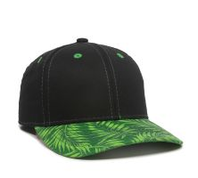 FLR-100-Black/Green Tropical-One Size Fits Most