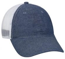 FWT-130CB-Heathered Blue/ White-Adult