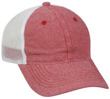 FWT-130CB-Heathered Red/ White-Adult