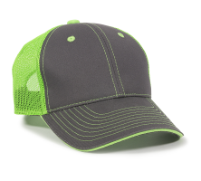 GWT-101M-Charcoal/Neon Green-One Size Fits Most