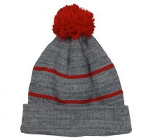 KNF-100-Heathered Grey/Red-Adult