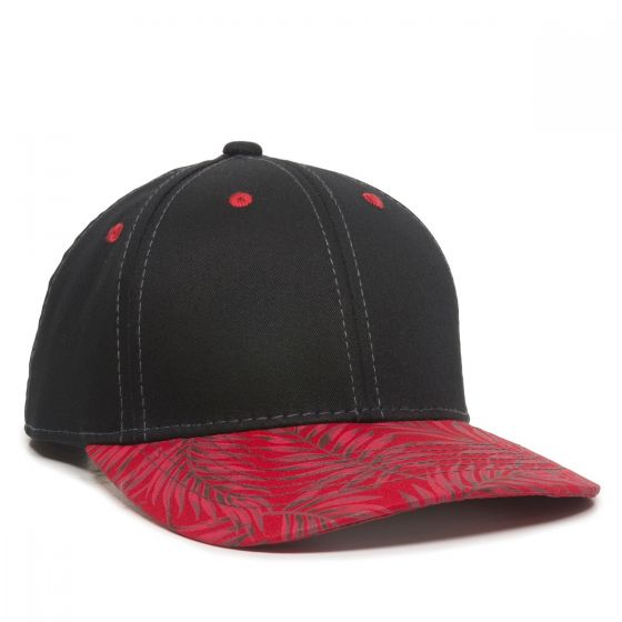 FLR-100-Black/Red Tropical-One Size Fits Most