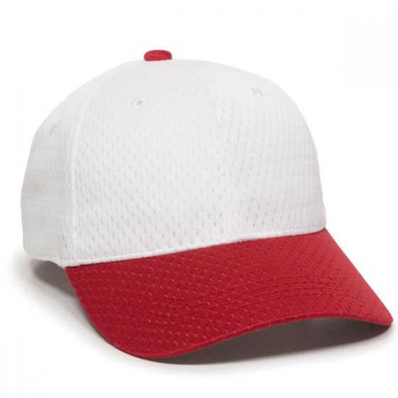 JM-123-White/Red-Adult