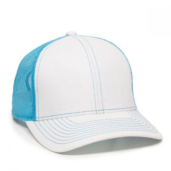 MBW-800SB-White/Neon Blue-Adult