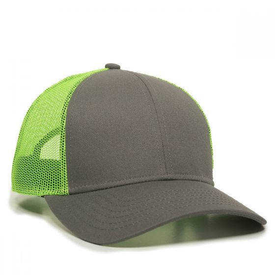 OC770-Charcoal/Neon Green-One Size Fits Most