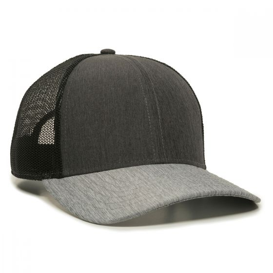OC770-Heathered Charcoal/Black/Heathered Grey-One Size Fits Most