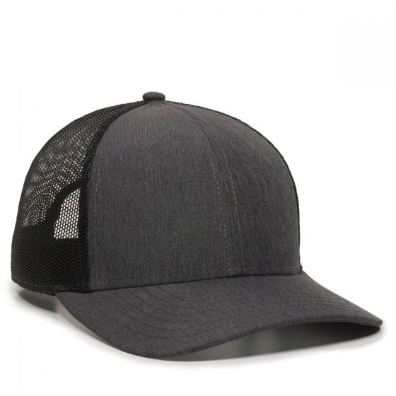OC770-Heathered Charcoal/Black-One Size Fits Most