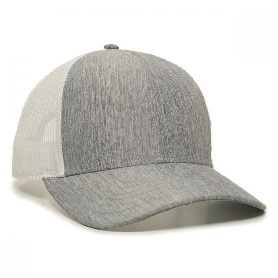 OC770-Heathered Grey/White-One Size Fits Most