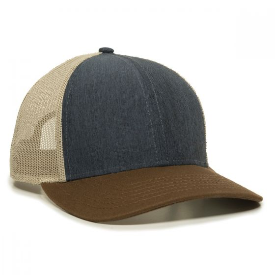 OC770-Heathered Navy/Khaki/Brown-One Size Fits Most