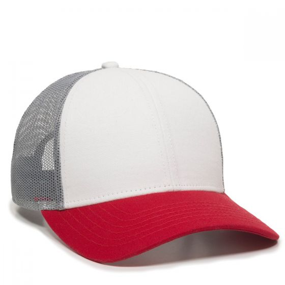 OC770-White/Grey/Red-One Size Fits Most