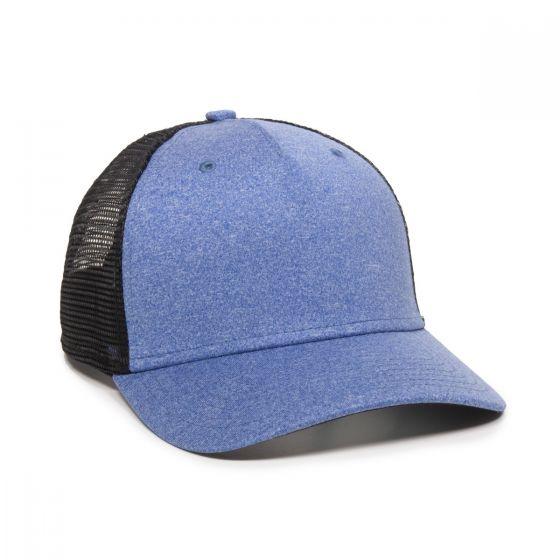 RGR-100M-Heathered Blue/ Black-Adult