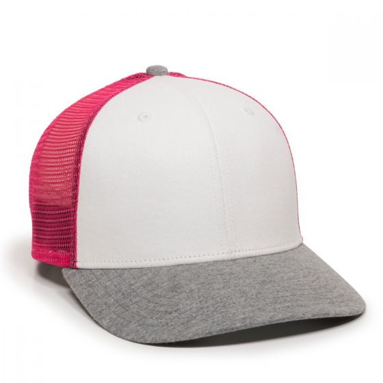RGR-200M-White/Pink/Heathered Grey-One Size Fits Most