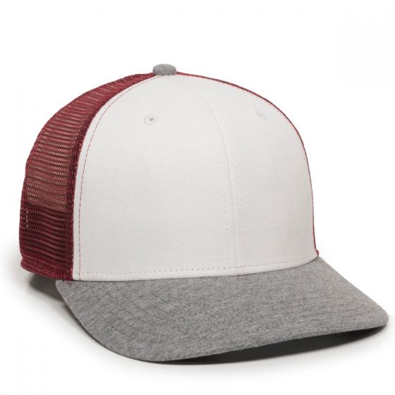 RGR-200M-White/Maroon/Heathered Grey-One Size Fits Most