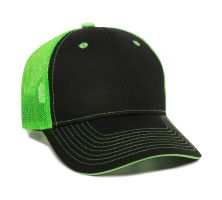GWT-101M-Black/Neon Green-One Size Fits Most