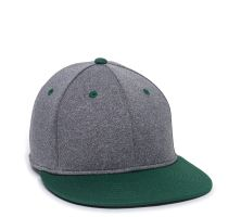 HTH25-Heathered Black/Dark Green-S/M