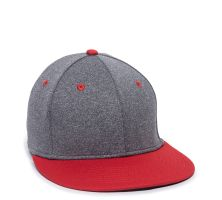 HTH25-Heathered Black/Red-S/M