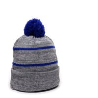 KNF-100-Heathered Grey/Royal-Adult