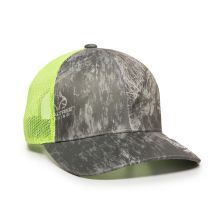 RTF-100M-Realtree Fishing Grey/Neon Yellow-One Size Fits Most