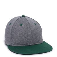 HTH25-Heathered Black/Dark Green-M/L