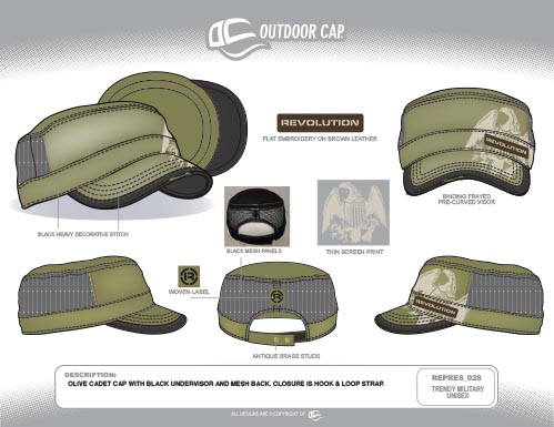 REPRES_028 Trendy Military Unisex