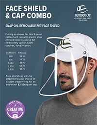 Face Shield & Cap Combo Flyer